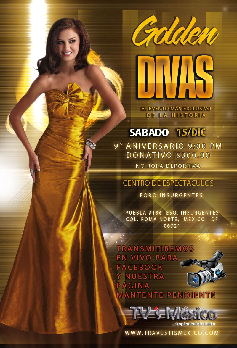 Golden Divas 9° aniversario / 15 de diciembre no te lo puedes perder.