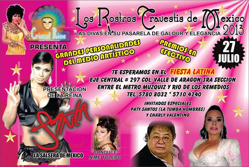 Los rostros travestis de México 2013.