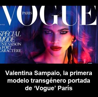 Valentina Sampaio, la primera modelo transgénero portada de 'Vogue' París