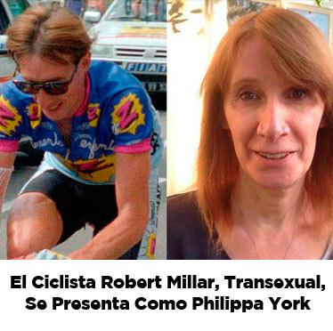 El ciclista Robert Millar, transexual, se presenta como Philippa York